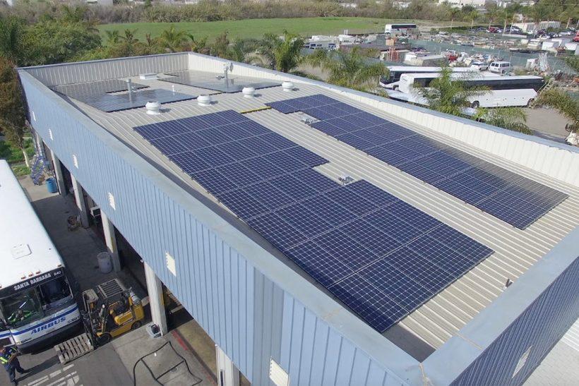40.87 Kilowatt System with Monocrystalline Solar Panels | Santa Barbara Airbus