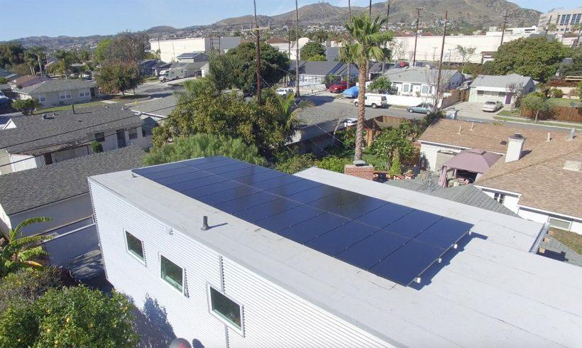 Full Black Panels Mounted on an Asphalt Membrane | Ventura, CA