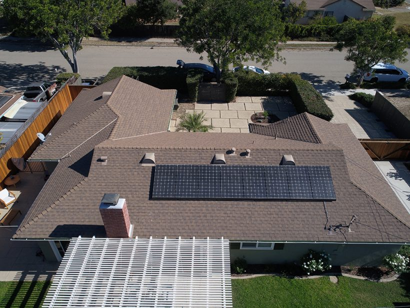 2.8 Kilowatt Solar System on Asphalt Shingle Roof | Goleta, CA