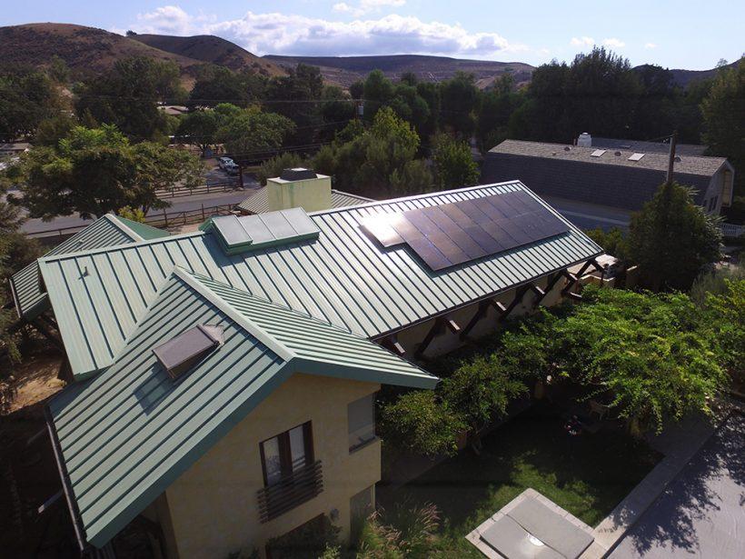 5.8 Kilowatt Rooftop Solar System Mounted on Standing Seams Roof | Agoura Hills, CA