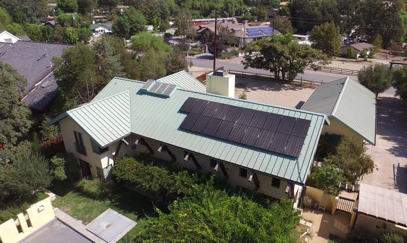 5.8 Kilowatt Rooftop Solar System Mounted on Standing Seams Roof | Agoura Hills, CA