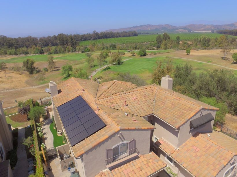 4.8 KW ROOFTOP SOLAR SYSTEM ON SPANISH TILES ROOF