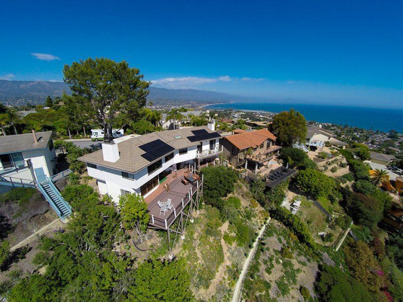Full Black Panels Mounted on a Flat Tile Roof | Santa Barbara, CA
